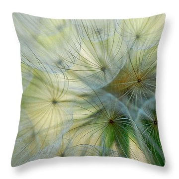 Salsifis D'orient Throw Pillow by Elaine Manley