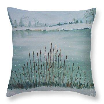 Saltville Pond Throw Pillow by Julie Brugh Riffey