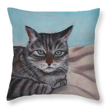 Sam Throw Pillow by Anastasiya Malakhova