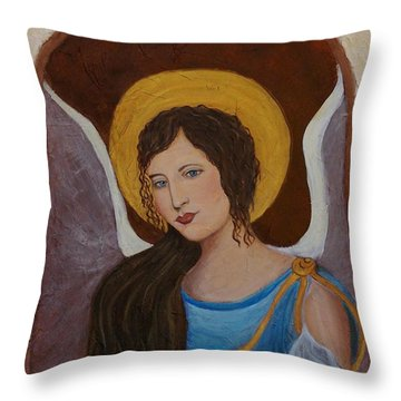 Samantha An Earthangel Throw Pillow by The Art With A Heart By Charlotte Phillips