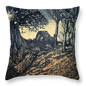 Sam's Early Morn Throw Pillow by Lyndsey Hatchwell