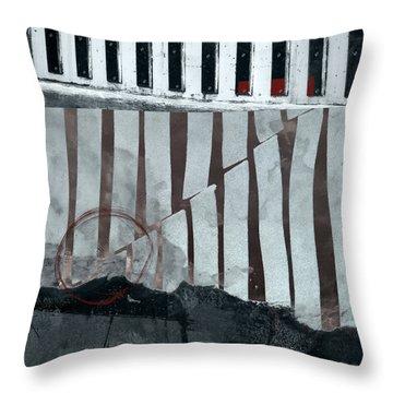 San Andreas Fault Throw Pillow by Carol Leigh