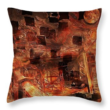 San Francisco Bay  Throw Pillow by Jack Zulli