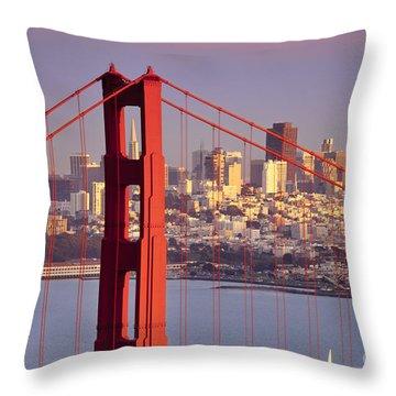 San Francisco Throw Pillow by Brian Jannsen
