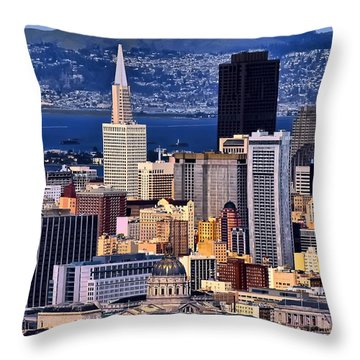 San Francisco Throw Pillow by Camille Lopez
