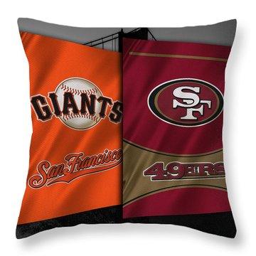 San Francisco Sports Teams Throw Pillow by Joe Hamilton