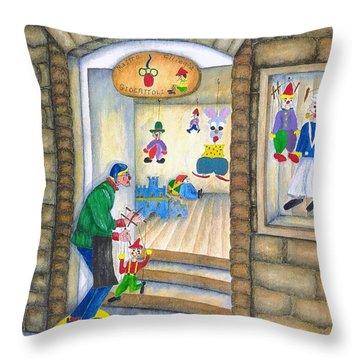 San Gimignano Throw Pillow by Pamela Allegretto