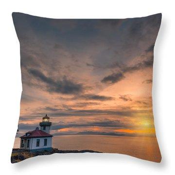 San Juan Sunset Throw Pillow by Dan Mihai