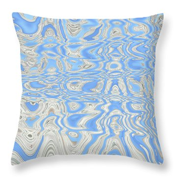 Sand And Sea Abstract Throw Pillow by Carol Groenen