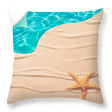 Sand Background Throw Pillow by Amanda Elwell