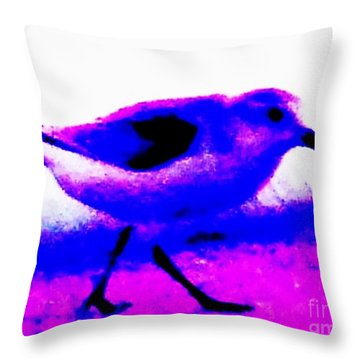 Sandpiper Abstract Throw Pillow by Eric  Schiabor