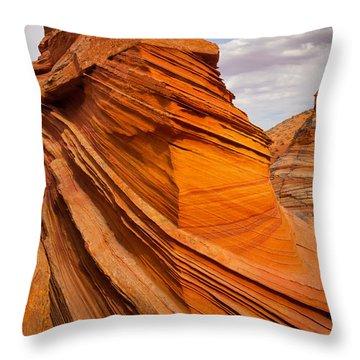 Sandstone Flatiron Throw Pillow by Inge Johnsson