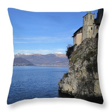 Throw Pillow featuring the photograph Santa Caterina - Lago Maggiore by Travel Pics