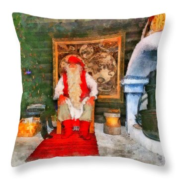 Santa Claus Throw Pillow by George Rossidis