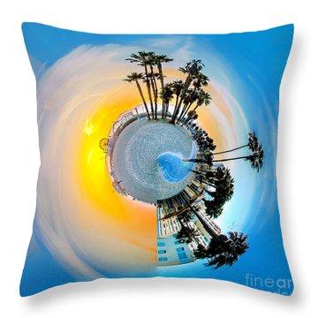 Santa Monica Pier Circagraph Throw Pillow by Az Jackson