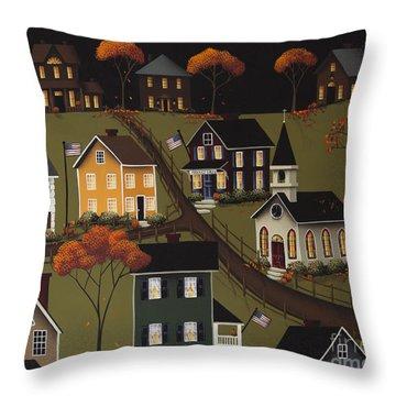Sarah's Diner Throw Pillow by Catherine Holman