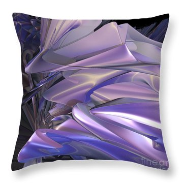 Satin Wing By Jammer Throw Pillow by First Star Art