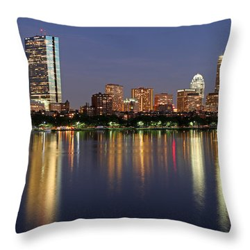 Saturday Night Live In Beantown Throw Pillow by Juergen Roth