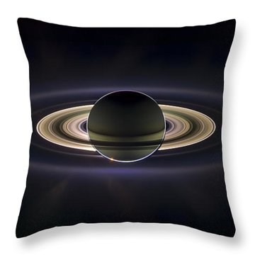 Saturn Throw Pillow by Adam Romanowicz