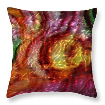 Saturn's Winds 2 Of 3 Throw Pillow by Luis  Navarro