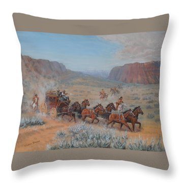 Saving The Nigh Leader Throw Pillow by Elaine Jones