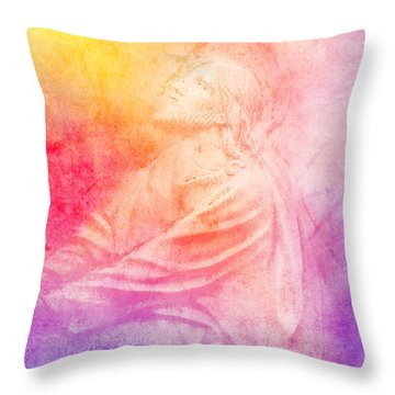 Savior  Throw Pillow by Erika Weber