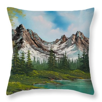 Sawtooth Saddle Throw Pillow by C Steele