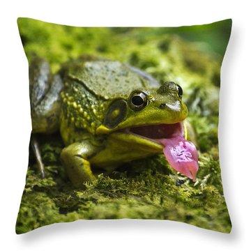 Say Ahhhh Throw Pillow by Christina Rollo