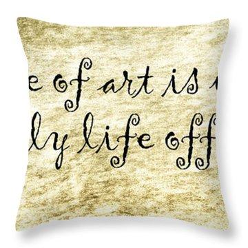 Say It Again Throw Pillow by Joan Carroll