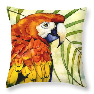 Scarlet Throw Pillow by Lyse Anthony