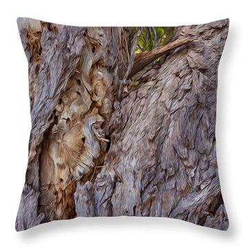 Scarred And Beautiful Throw Pillow by Omaste Witkowski