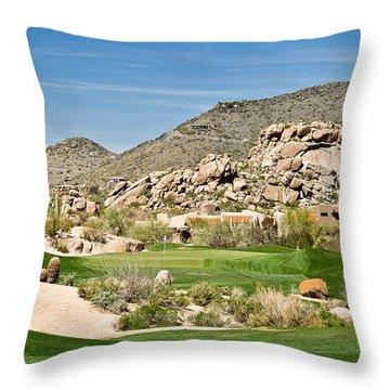 Scenic Approach Throw Pillow by Scott Pellegrin