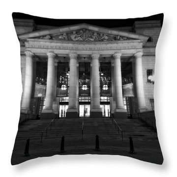 Schermerhorn Symphony Center In Nashville Throw Pillow by Dan Sproul