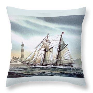 Schooner Light Throw Pillow by James Williamson