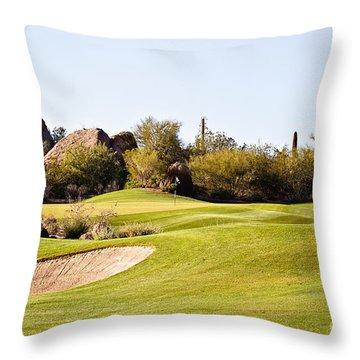 Scottsdale Golf Throw Pillow by Scott Pellegrin