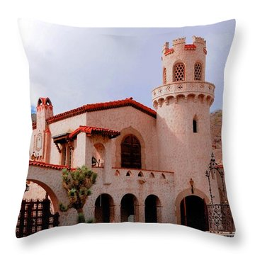 Scotty's Castle Throw Pillow by Kathleen Struckle