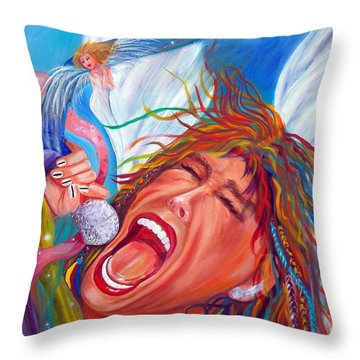Screamin Angel Throw Pillow by To-Tam Gerwe