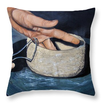 Sculpted By The Masters Hands Throw Pillow by Karon Melillo DeVega