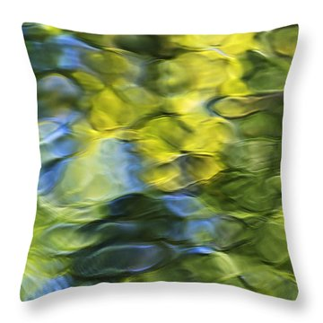 Sea Breeze Mosaic Abstract Art Throw Pillow by Christina Rollo