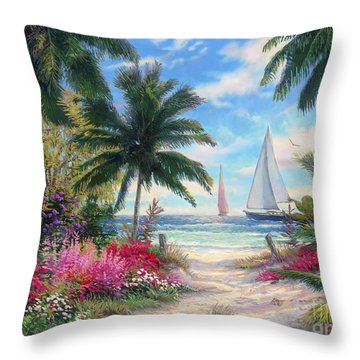 Sea Breeze Trail Throw Pillow by Chuck Pinson