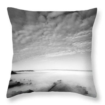 Sea Of Fog Throw Pillow by Anne Gilbert