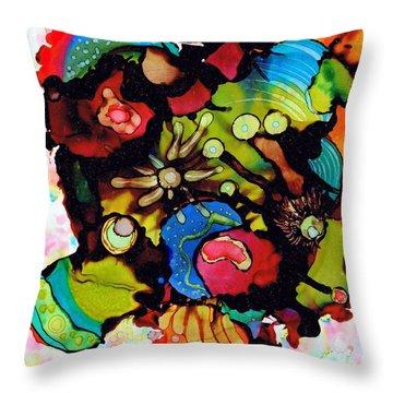 Sea Of Knowledge.. Throw Pillow by Jolanta Anna Karolska