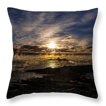 Sea Smoke Panorama Throw Pillow by Marty Saccone