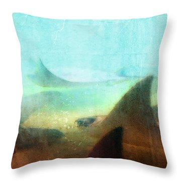 Sea Spirits - Manta Ray Art By Sharon Cummings Throw Pillow by Sharon Cummings