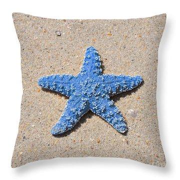 Sea Star - Light Blue Throw Pillow by Al Powell Photography USA
