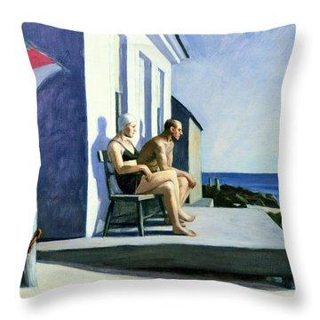 Sea Watchers Throw Pillow by Edward Hopper