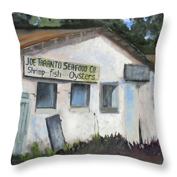 Seafood House Apalach Throw Pillow by Susan Richardson
