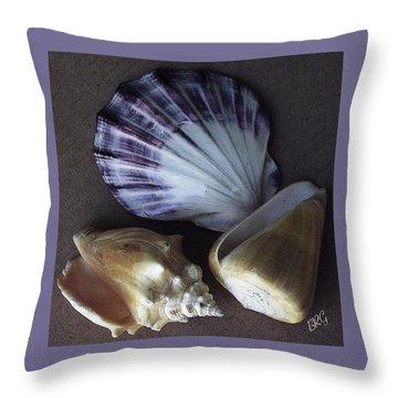Seashells Spectacular No 30 Throw Pillow by Ben and Raisa Gertsberg