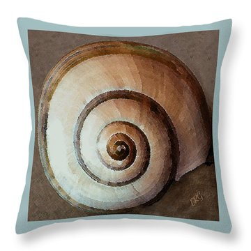 Seashells Spectacular No 34 Throw Pillow by Ben and Raisa Gertsberg