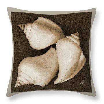 Seashells Spectacular No 4 Throw Pillow by Ben and Raisa Gertsberg